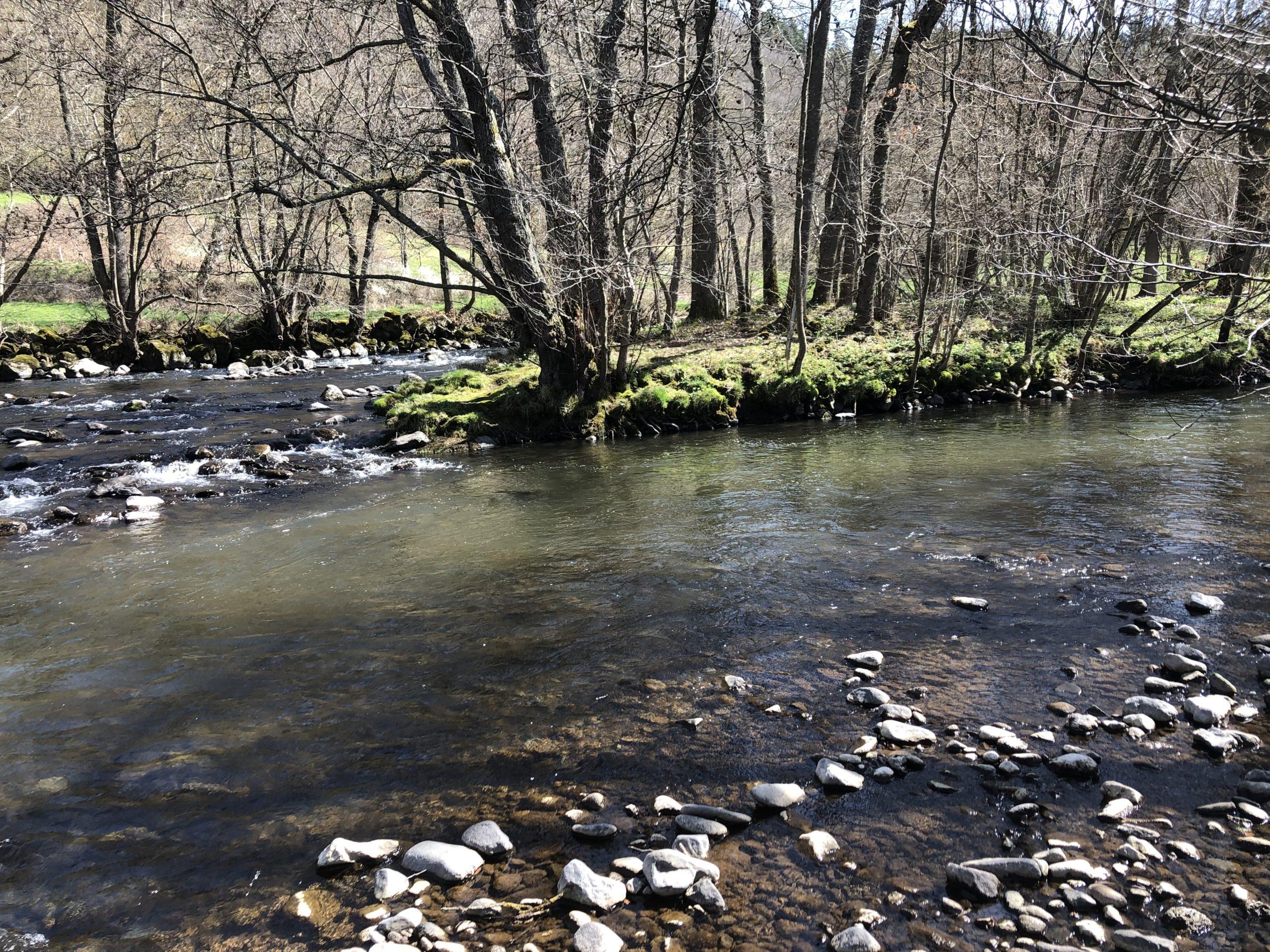 La confluence entre l'Allanche et l'Alagnon